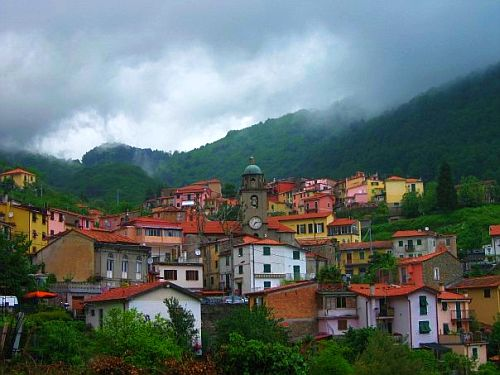 The sleepy town of Biassa, Italy.  I stayed here while exploring the Cinque Terre.
